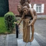 Statue Merckx in Kiezegem